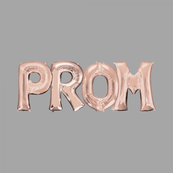 Rose Gold Balloon Letter Word Prom