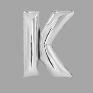 Silver Supershape Letter Balloon 34 Inch