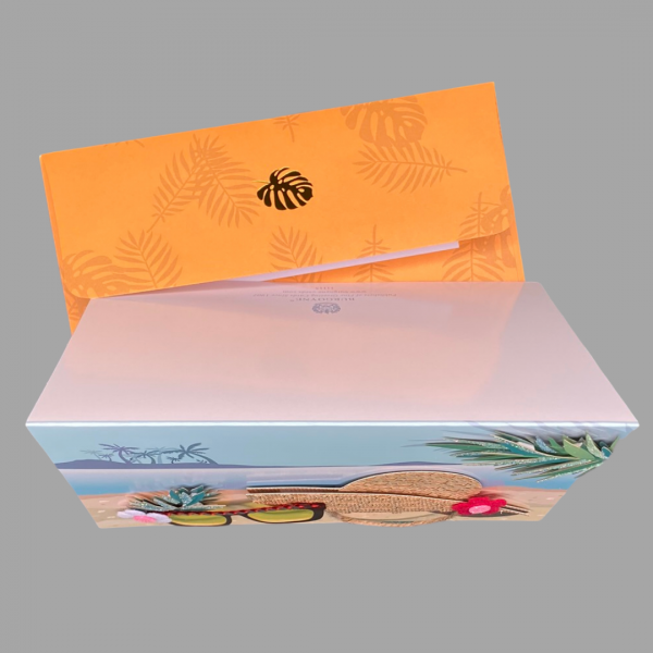 Luxury 3d Celebration Card Beach Hat Sand Holiday Ocean Island Palm Tree Card Blank Inside For Your Message 2