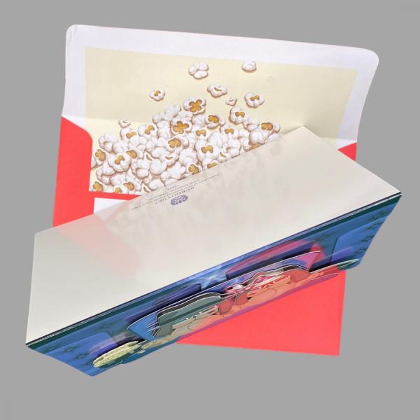 Luxury 3d Celebration Card Cinema Dogs Popcorn Blank Inside 2