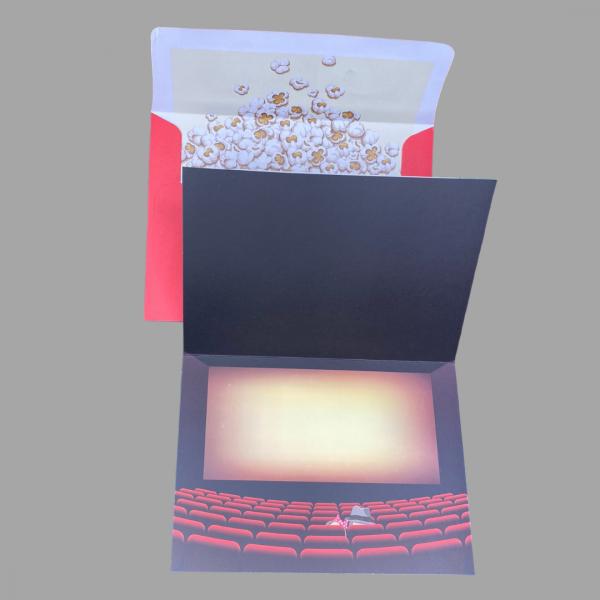 Luxury 3d Celebration Card Cinema Dogs Popcorn Blank Inside Inner