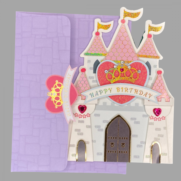 Luxury 3d Celebration Card Princess Birthday Congratulations Card Message Hope Your Day Is A Fairy Tale Come True