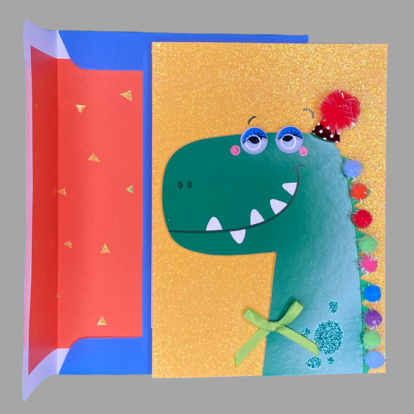 Luxury 3d Celebration Card Kids Dragon Dinosaur Birthday Congratulations Card Message Have A Super Fabulous Birthday
