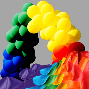 Balloonista Rainbow Garland Cloud Inflated
