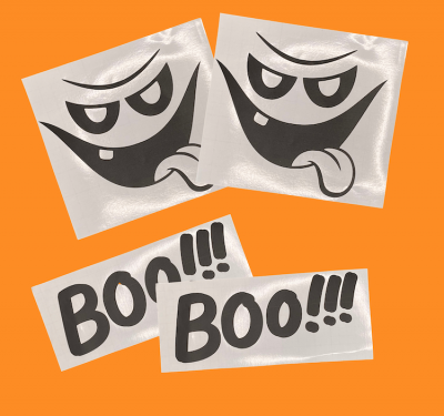Halloween Boo And Ghost Stickers