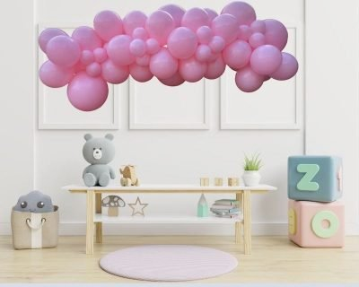 Pink Garland Playroom