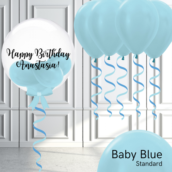 Balloonista Bubble And Latex Balloon Package Baby Blue