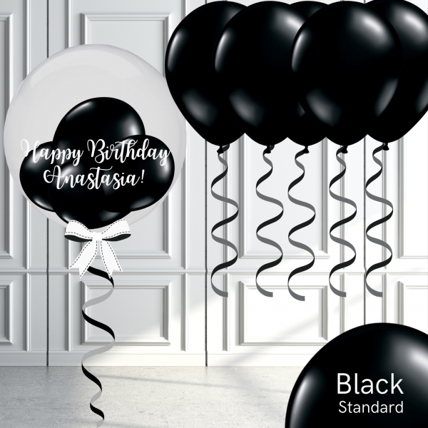 Balloonista Bubble And Latex Balloon Package Black