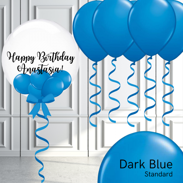 Balloonista Bubble And Latex Balloon Package Dark Blue