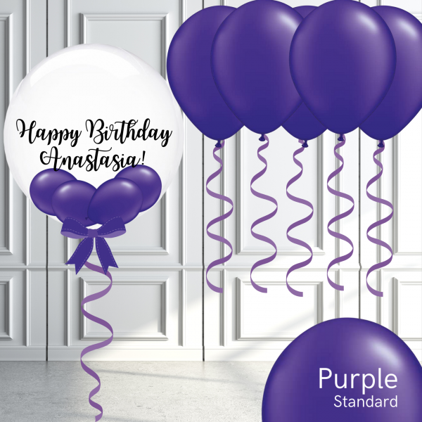 Balloonista Bubble And Latex Balloon Package Purple Violet