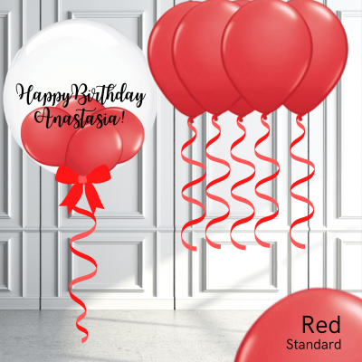 Balloonista Bubble And Latex Balloon Package Red