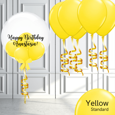 Balloonista Bubble And Latex Balloon Package Yellow
