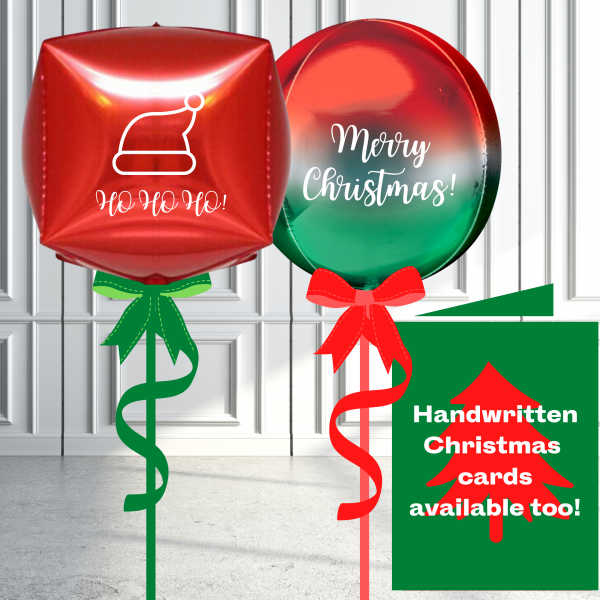 Balloonista Christmas Orbz Cubez Balloon Inflated Personalised (2)