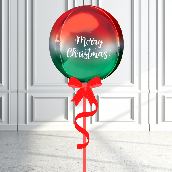 Balloonista Christmas Orbz Balloon Inflated Personalised