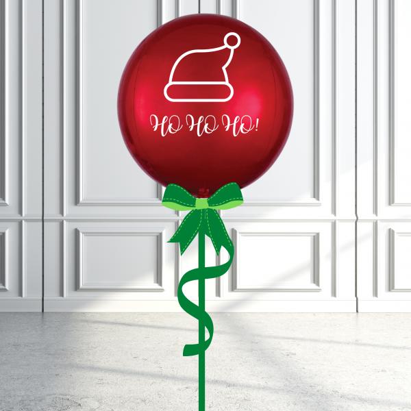 Balloonista Christmas Orbz Balloon Inflated Personalised Ho Ho Ho
