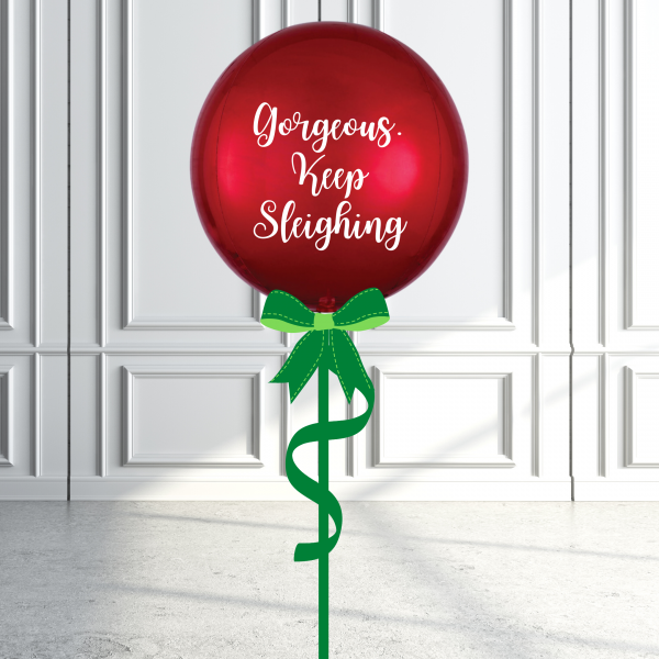 Balloonista Christmas Orbz Balloon Inflated Personalised Keeps Sleighing