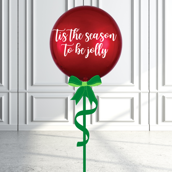 Balloonista Christmas Orbz Balloon Inflated Personalised Tis The Season To Be Jolly