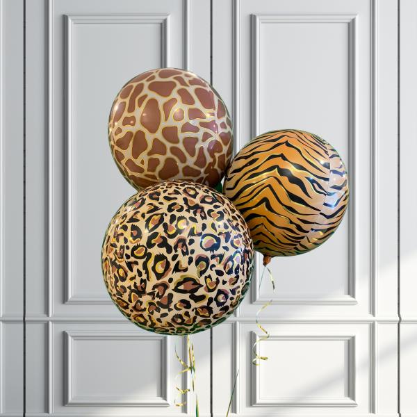 Balloonista Designed Orbz Animal Print Balloons