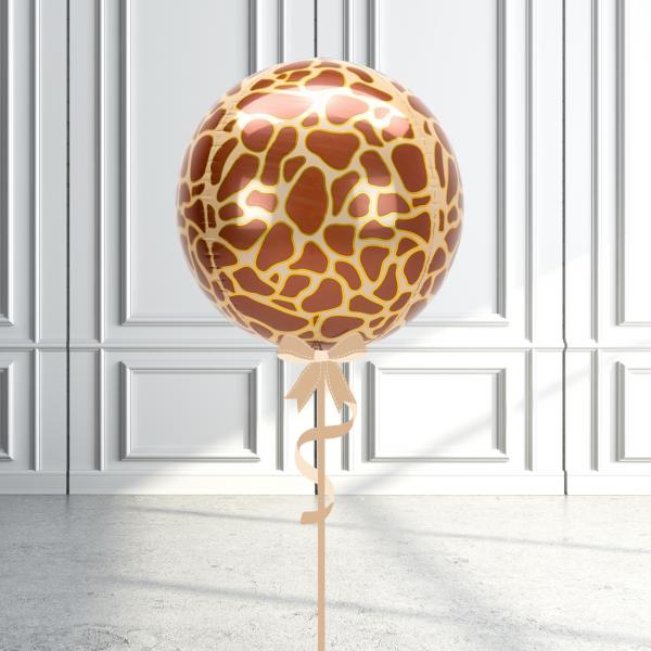 Balloonista Designed Orbz Animal Print Balloons Giraffe
