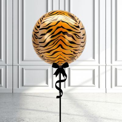 Balloonista Designed Orbz Animal Print Balloons Tiger