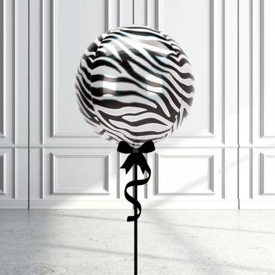 Balloonista Designed Orbz Animal Print Balloons Zebra