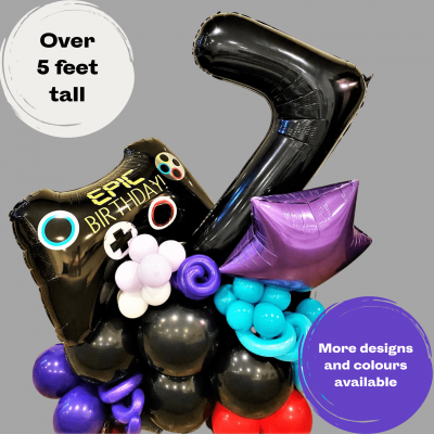 Balloonista Giant Number Themed Balloon Display