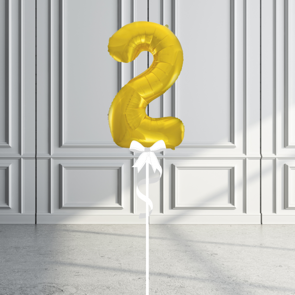 Balloonista Giant Supershape 34in Number Gold