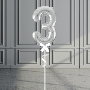 Balloonista Giant Supershape 34in Number Silver