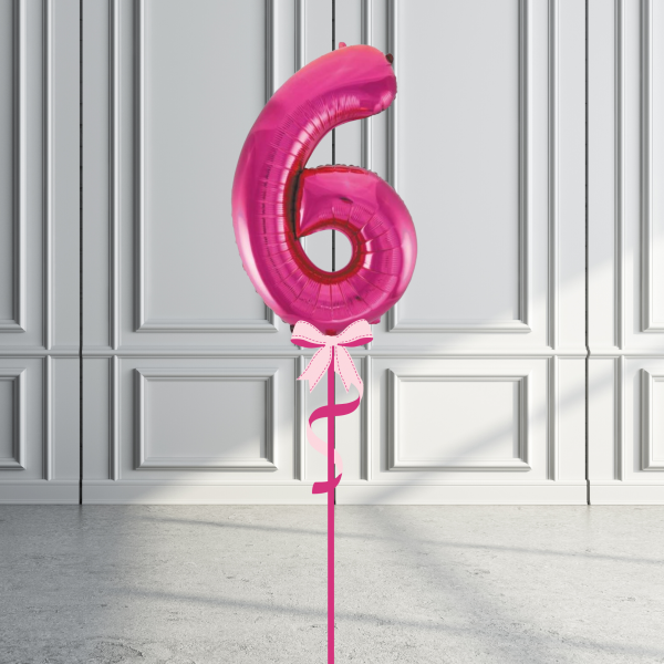 Balloonista Giant Supershape 34in Number Hot Pink