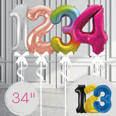 Balloonista Giant Supershape 34in Numbers