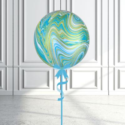 Balloonista Marblez Orbz Green + Gold + Blue