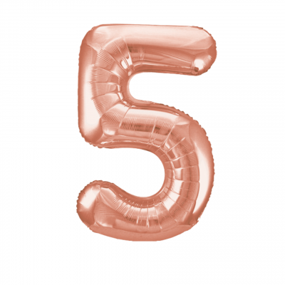 Balloonista Rose Gold Giant Number Balloon 5