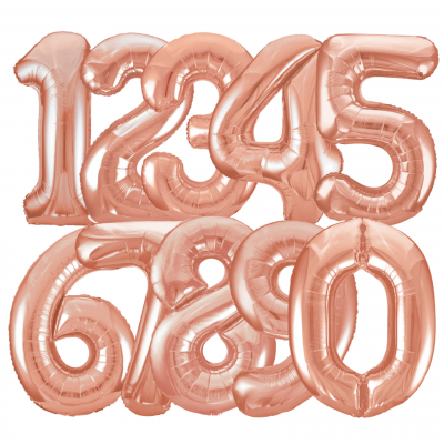 Balloonista Rose Gold Giant Number Balloons All