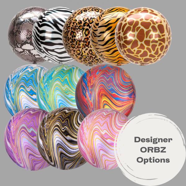 Balloonista Designer Marblez Orbz Various Colours Amscan