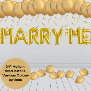 Balloonista Marry Me Proposal Balloon Package Gold