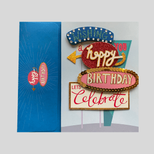 Balloonista Luxury Birthday Celebrations Card American Signs