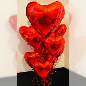 Balloonista 36 Inch And 18 Inch Inflated Hearts Delivered To Your Door