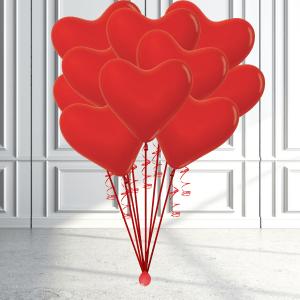 Balloonista Heart Balloon Bunch Biodegradable Latex Helium X 10