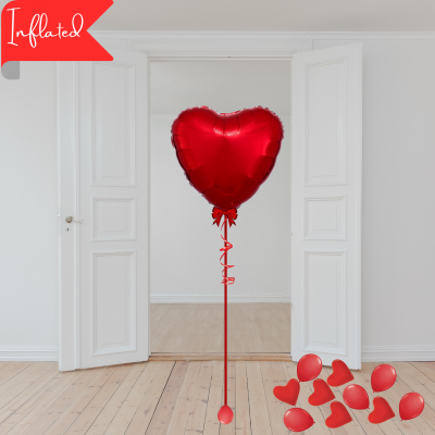 Balloonista Valentines 1 Red Foil Heart