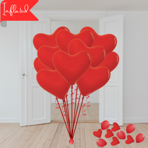 Balloonista Valentines 10 Red Biodegradable Latex Hearts