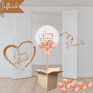 Balloonista Valentines Bubble Balloon Chrome Coper Rose Gold Filled