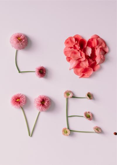 Balloonista Valentines Day Card Love Flowers