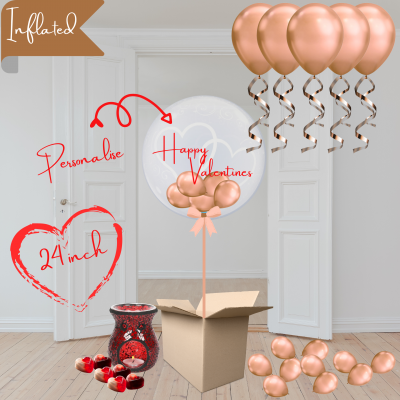 Balloonista Heart Bubble And Ceiling Rose Gold Package With Wax Melts
