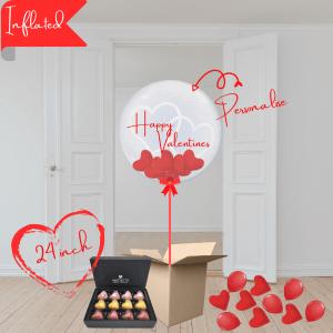 Balloonista Hearts Bubble Balloon Stuffed With Mini Hearts With Hartnetts Chocolate