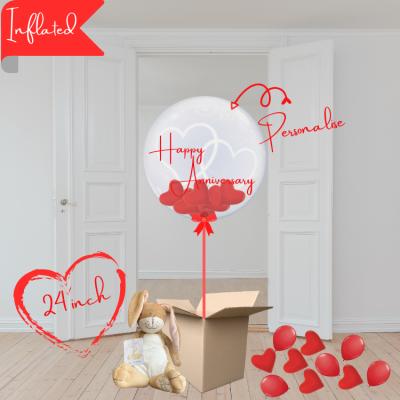 happy anniversary bubble balloon