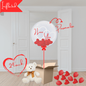 i love you bubble balloon