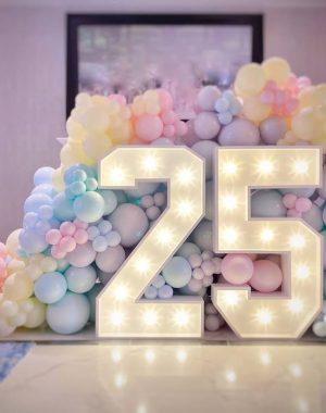 25 birthday pastel