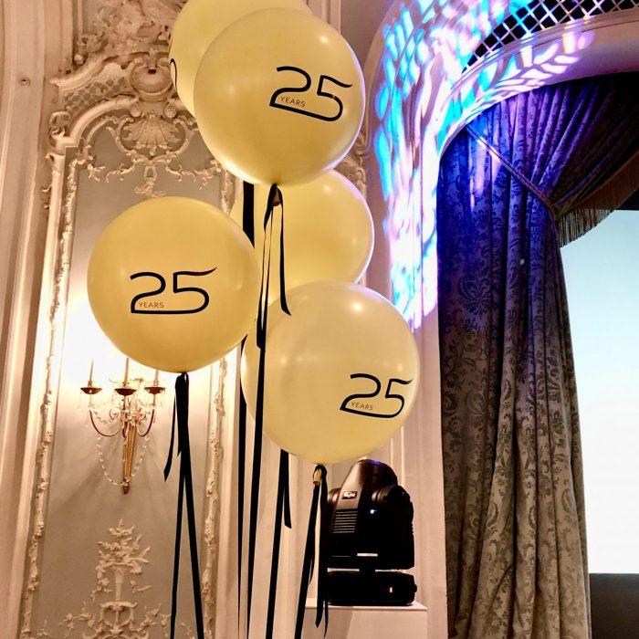 Balloonista Personalised Giant Eurostar Balloons Teh Savoy Ballroom