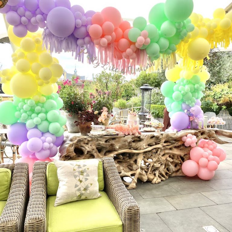 London Roof Top Pastel Balloons Party