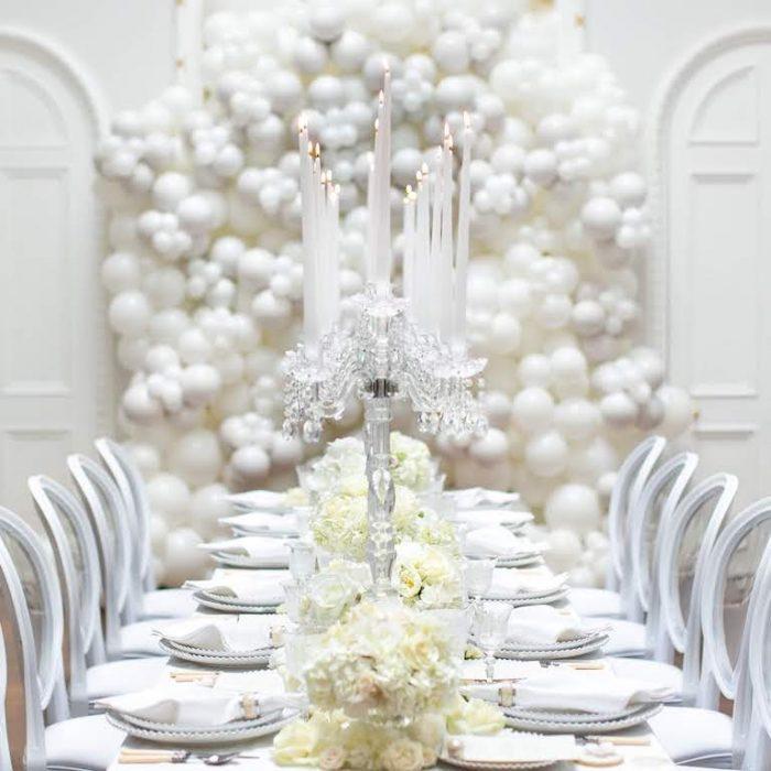 Pearl balloons Wedding white
